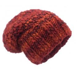 Bardzo gruba czapka TERRACOTA