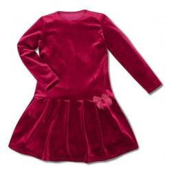 Aksamitna sukienka bordowa...