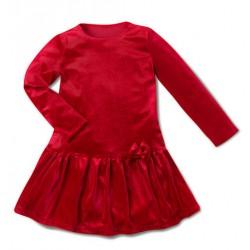 Aksamitna sukienka czerwona...