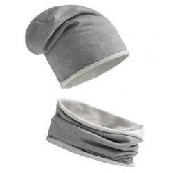 Komplet SZARY - czapka i...