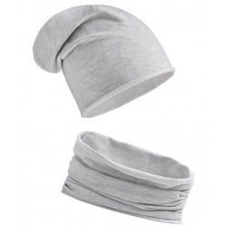 Komplet JASNOSZARY - czapka...