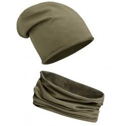 Komplet KHAKI - czapka i...