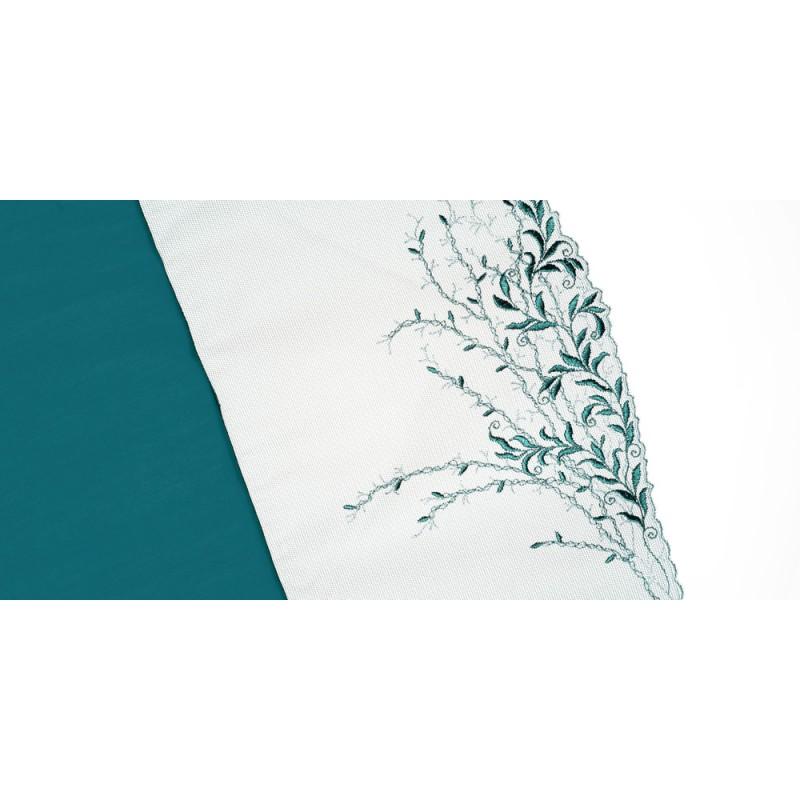 BAWEŁNIANA TORBA LOXIA A4 SHOPPER BAG FOLK RUSTYKALNE SERCA - CZARNA